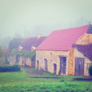 Farmhouses in Chames, a small town in the Vallerian countryside.