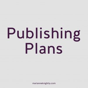Next Year's Publishing Plans