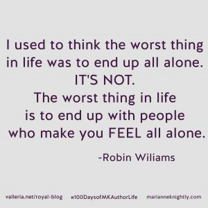 Robin Williams Alone Quote Updated
