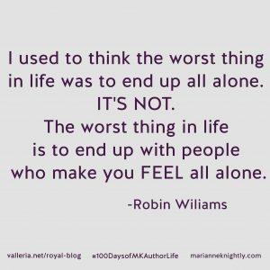 Robin Williams Alone Quote Updated